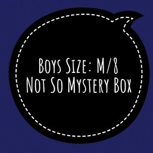 Boys Size: M/8 Not So Mystery Box